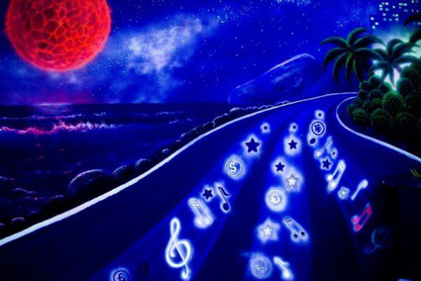 флуоресцент рисунок